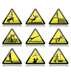 Electrical warning sign vector