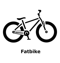 Fatbike icon simple style vector image