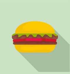fresh burger icon flat style vector image