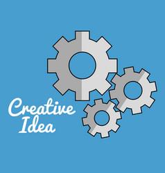 Gears machine creative ideas vector