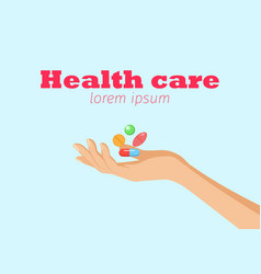 health care horizontal banner vector image