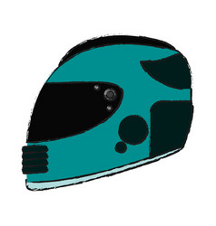 Helmet draw vector