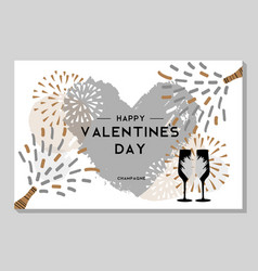 holiday greeting postcard with champagne glasses vector image