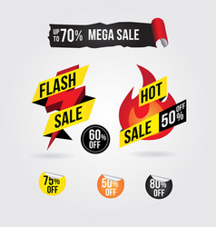 hot flash sale banner tag design collection vector image