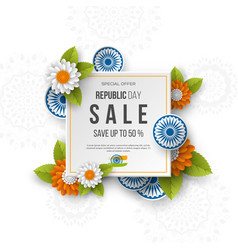 indian republic day sale square banner vector image