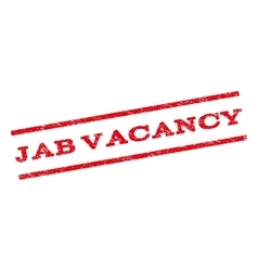Jab Vacancy Watermark Stamp vector