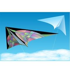 Kites in blue sky vector