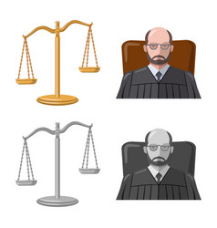 Law and lawyer symbol set vector