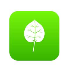 Linden leaf icon digital green vector