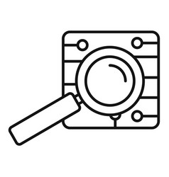 magnify glass ai icon outline style vector image