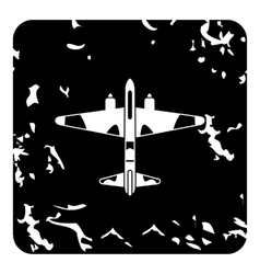 Military plane icon grunge style vector