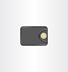 money wallet icon symbol element vector image