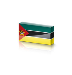 Mozambique flag on a white vector