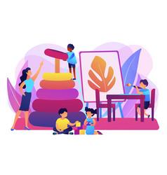 Nursery school concept vector