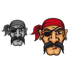 Old danger corsair captain vector image
