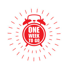 one week to go offer sticker or label - ringing vector image