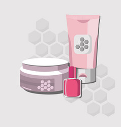 Organic cosmetics set package hydration vector