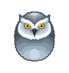 owl bird icon on white background vector image