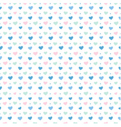 pattern blue hearts vector image