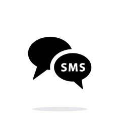 Phone dialogue icon on white background vector