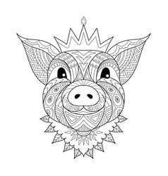 pig baby vector image