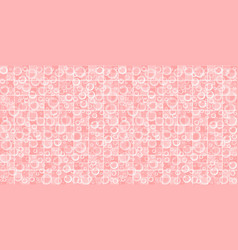 pink bathroom tiled wall with flying soap bubbles vector image