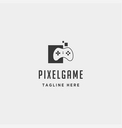 pixel game logo design icon element isolated vector image