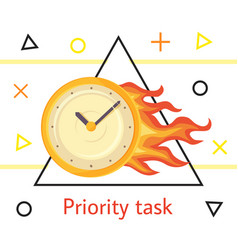 priority task concept with wall round vector image