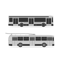 Public transportation set vector