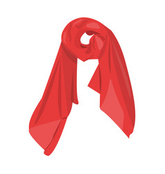 Red silk woman s scarf female an accessory scarf vector