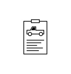 Report car information icon can be used for web vector