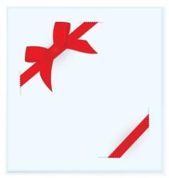 ribbon bow blue card vector image