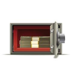 Safe deposit cash vector