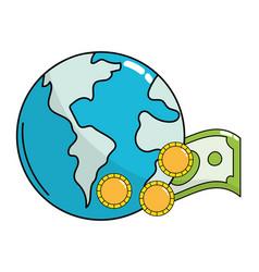 saving money box vector image