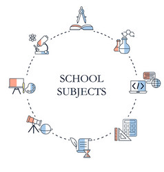 school subjects design concept school subjects vector image