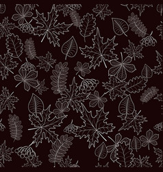 seamless pattern from autumn leaves on background vector image