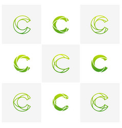 set of letter c logo icon design template vector image