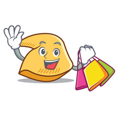 Shopping fortune cookie character cartoon vector
