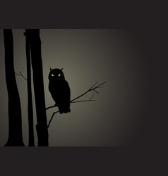 Silhouette of an owl vector