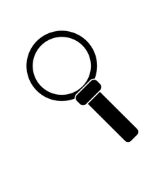 Silhouette search loupe magnifier tehcnology vector