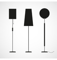 Silhouettes of floor lamps vector