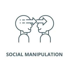 Social manipulation line icon linear vector