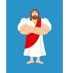 Strong Jesus Jesus Christ is powerful biblical vector