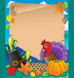 Thanksgiving theme parchment 1 vector