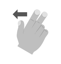 Two Fingers Left vector image