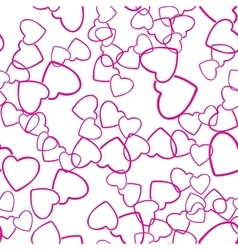 two hearts seamless pattern love wrapping texture vector image