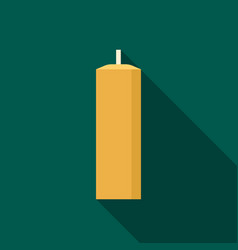 wax candle icon flat style vector image