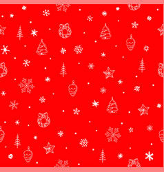 winter season seamless background wrapping vector image