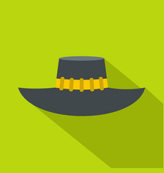 Woman hat icon flat style vector
