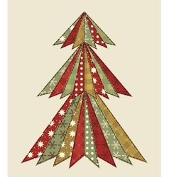 Christmas tree for scrapbooking 4 vector image vector image
